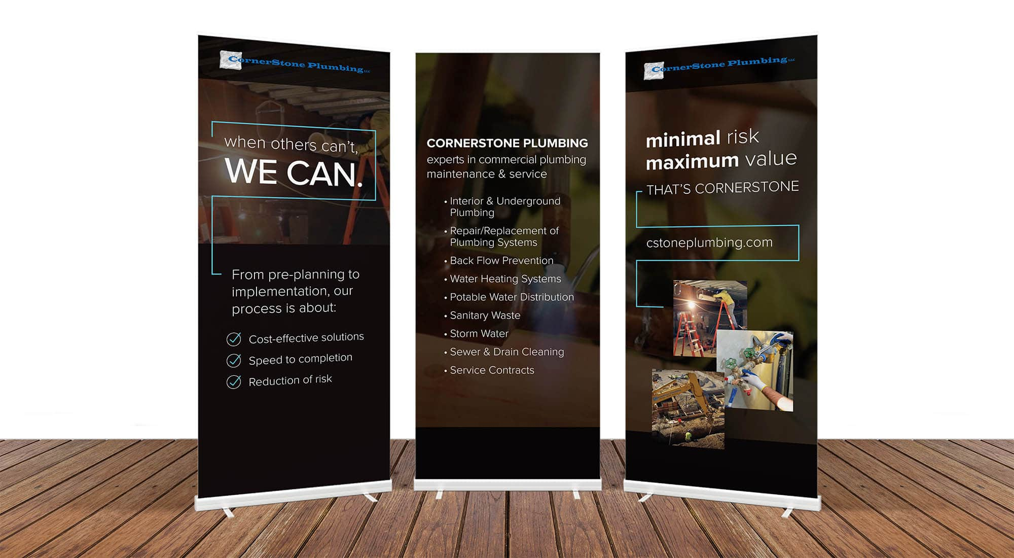 CornerStone Plumbing collateral