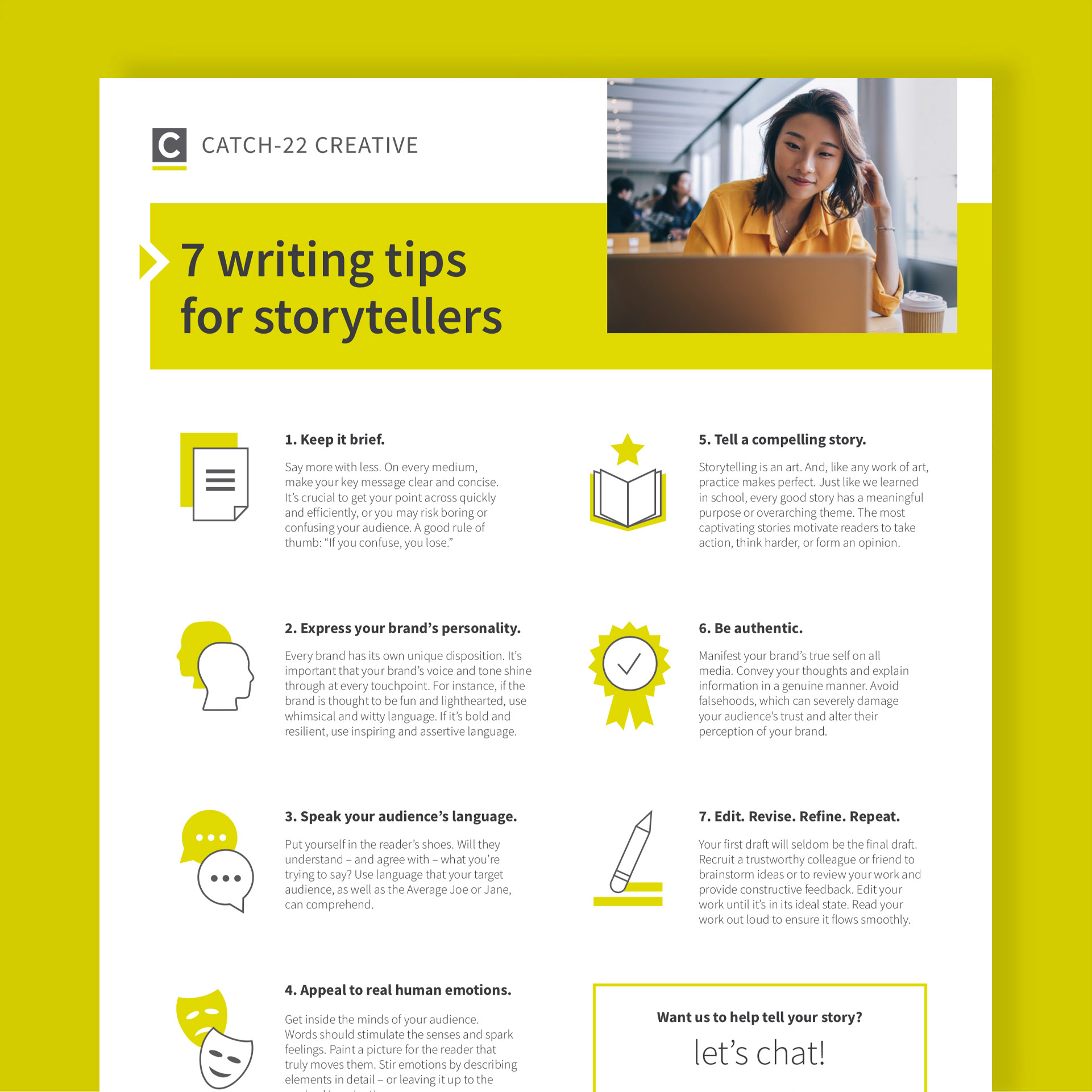 7 writing tips for storytellers