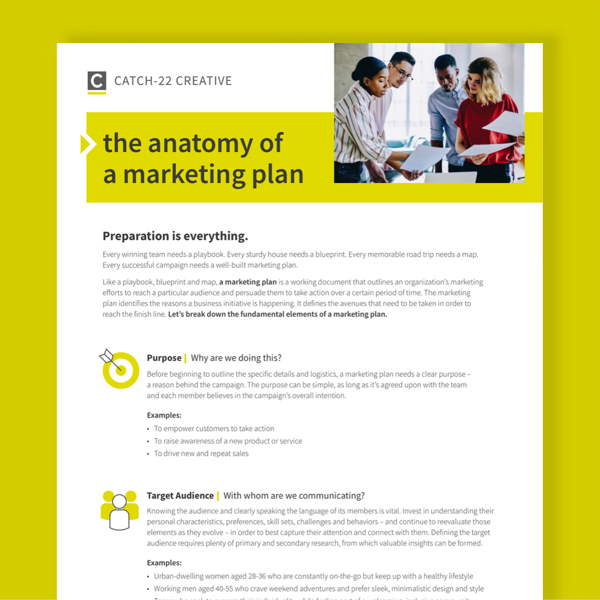 The Anatomy of a Marketing Plan