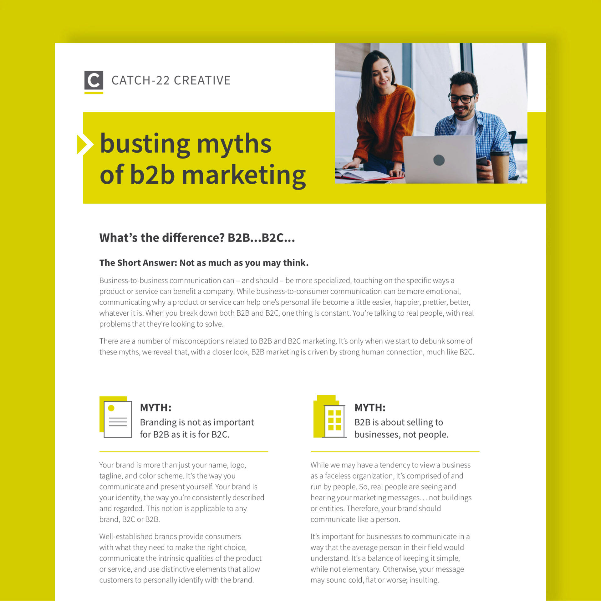 busting myths of b2b marketing